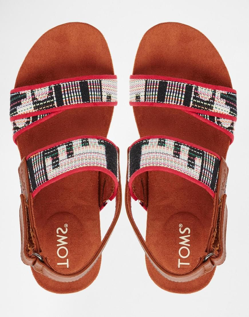 adf4cd758 TOMS Woven Tierra Flat Sandals | Everything Nice | Flat sandals ...