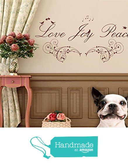 Love Joy Peace Quote Vinyl Wall Art Sticker Mural Decal Home