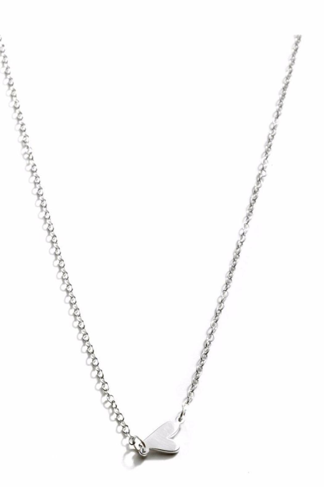 Assya Silver Heart Necklace of Length 22cm IDV7np7Asv