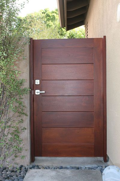 Side yard gate door trim installation in orange county for Door gate design