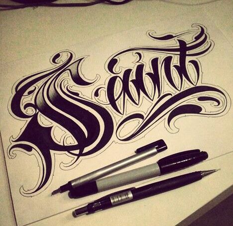 Chicano Lettering Tattoo Lettering Fonts Graffiti Lettering
