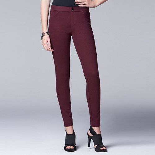 bcc83e6c6c Simply Vera Vera Wang Women's Smooth Twill Leggings | My Closet ...