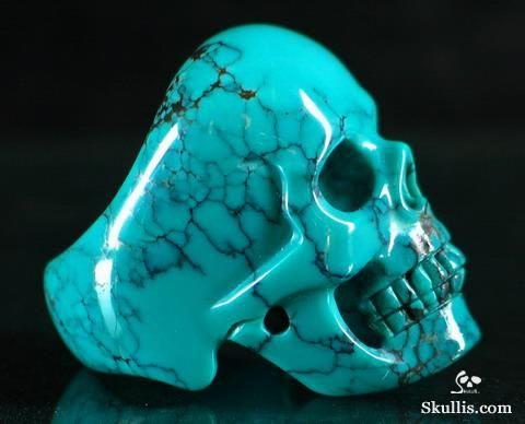 Skull Bronze With Nickel Plated Freak Evil Strong Packing Skulls