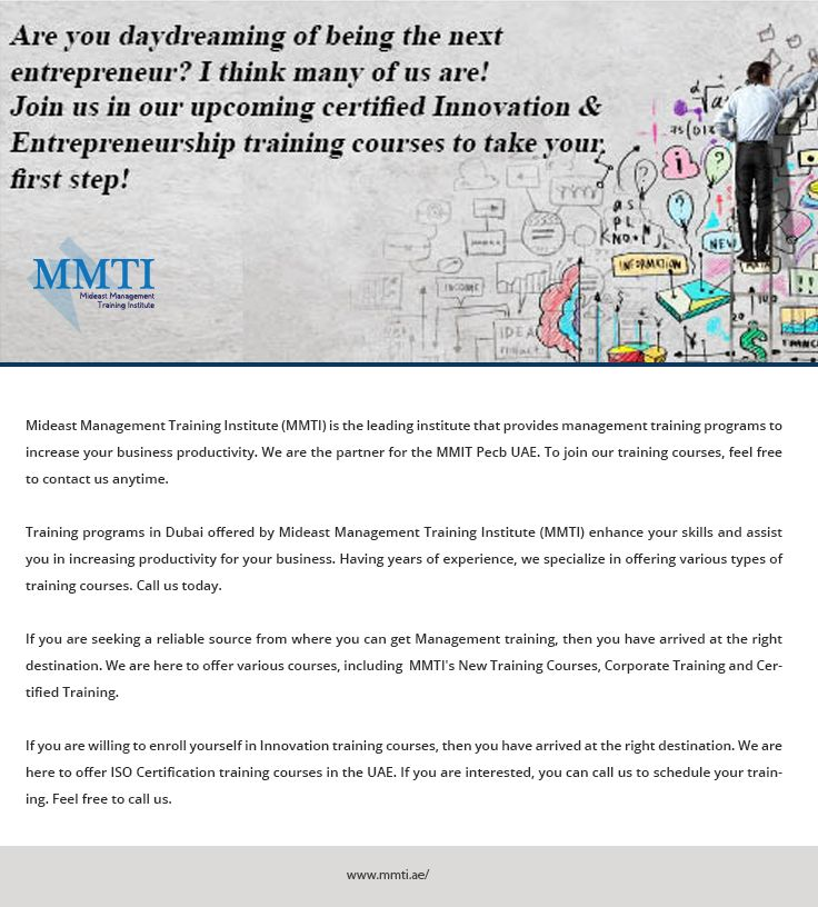 Pin By Mdeast Management Institue On Training Programs In Uae