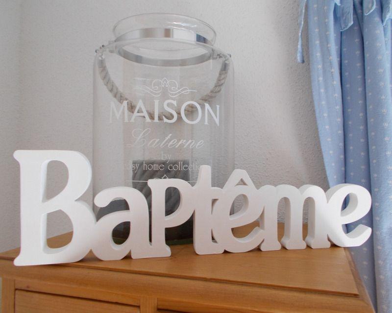 Mots décoratifs pour baptême - objets déco - Bois \ Pu0027tits Chiffons - tour a bois fait maison