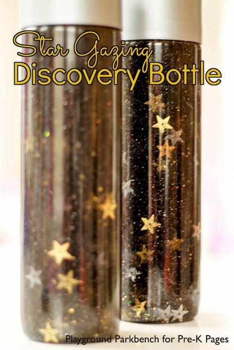 Star Gazing Discovery Bottle for preschool