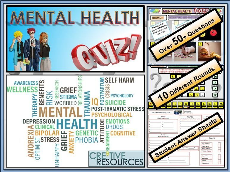 End of Year Quiz - Mental Health and Wellbeing | Education