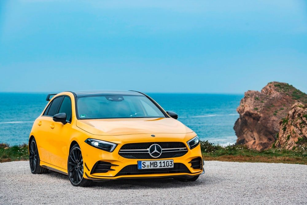 2019 A 35 Emerges As Mercedes Amg S New Entry Level Hot Hatch Covering Voiture Voiture Drift