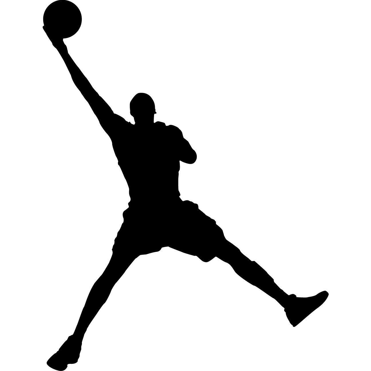 Basketball Silhouette Clip Art Jordan Basketball Wall Basketball Wall Decals Wall Decal Sticker