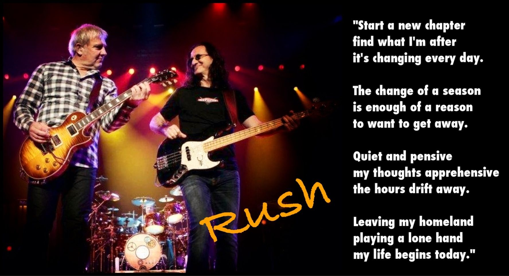 what rush songs are in i love you man