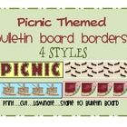Picnic Theme Printable Bulletin Board Border...  Decorating is what makes the classroom personal, and part of that decorating includes cute bulle...