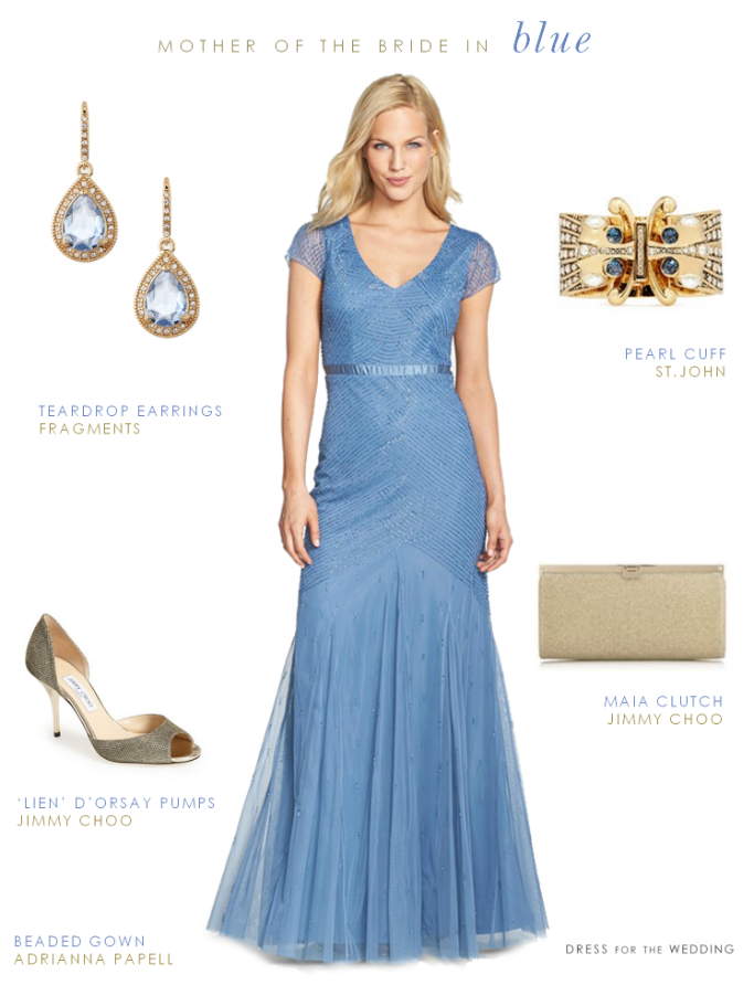 Blue Beaded Gown for the Mother-of-the-Bride | Pinterest | Gowns ...