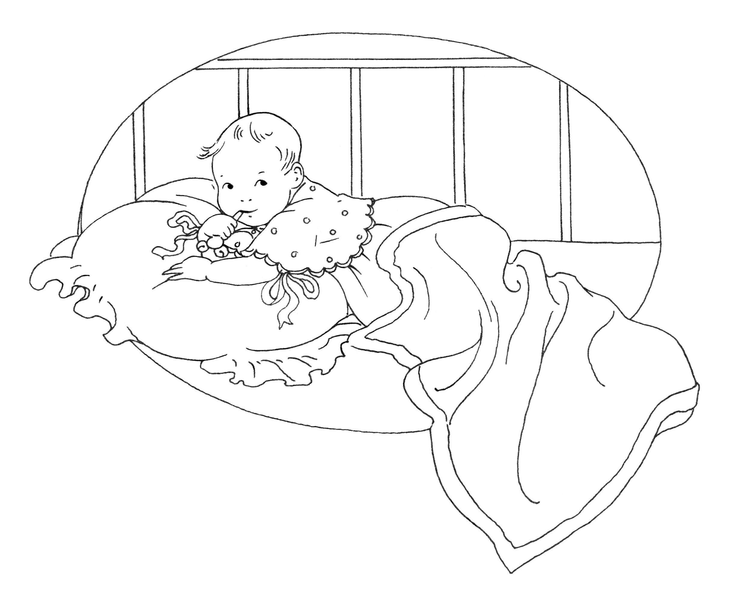 Olddesignshop Babysfirsttooth Jpg 2440 1979 Baby Clip Art Clip Art Vintage Vintage Drawing