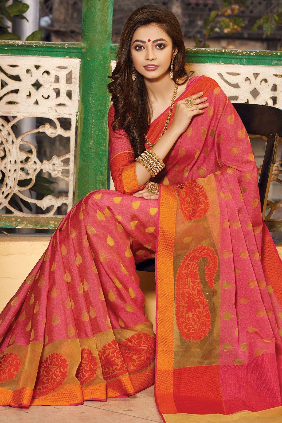 Maroon silk saree pure cotton silkpinksr  sarees  pinterest  silk cotton