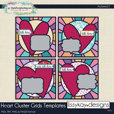Heart Cluster Grids by LissyKay Designs