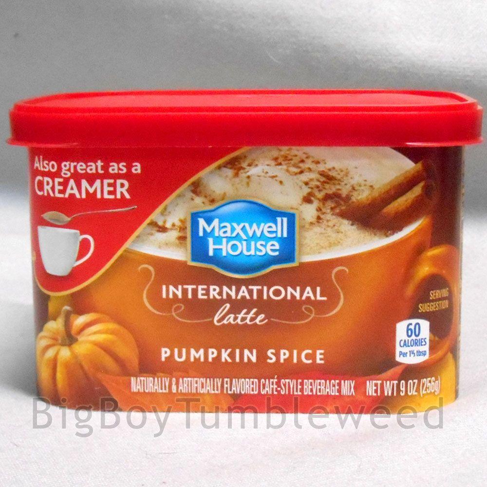 Maxwell house international latte pumpkin spice coffee