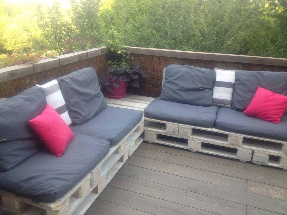 Terassen Sofa canapé de terrasse pallet terrace sofa pallets outdoor