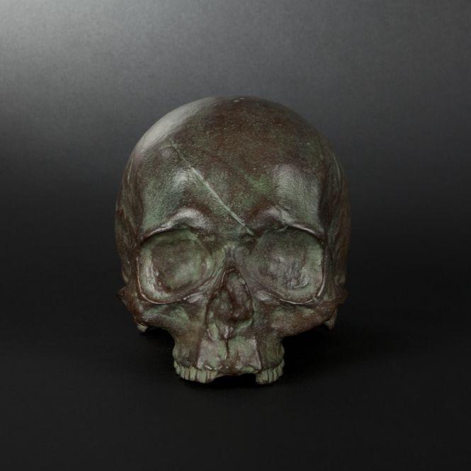 Bronze skull of marquis de sade - bronze more details on en.expertissim.com #BuyArtOnline