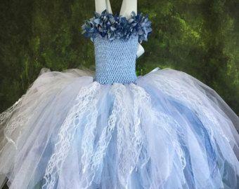 El vestido de Alice: Hecho a mano flor vestido de niña tul