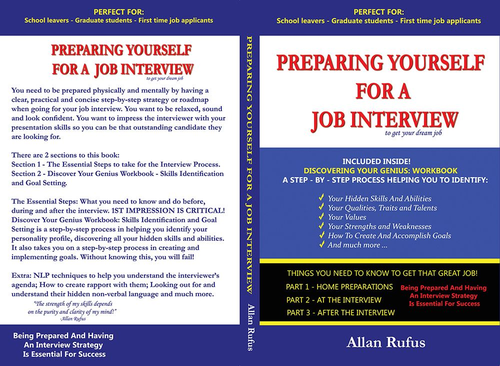 Preparing Yourself For A Job Interview. PERFECT FOR