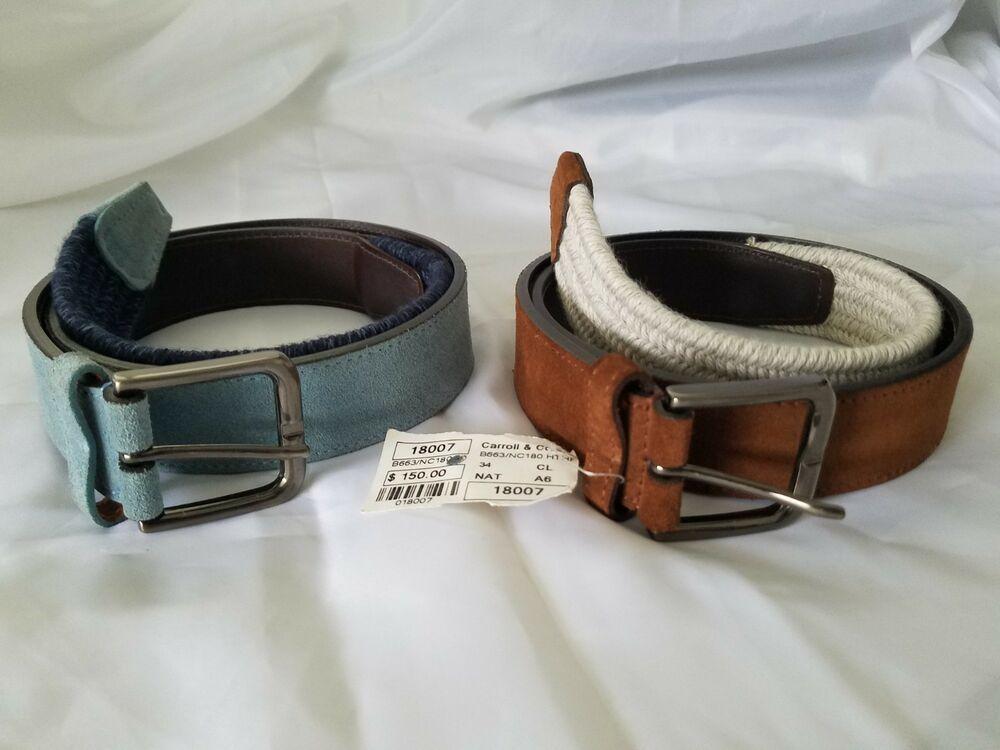 Carroll & Co Belts (2) | Brown (NWT $150) Blue (NWOT
