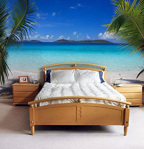 Beach Bedroom Ideas | Best Wall Murals: Landscapes, Nature, Animals Part 22