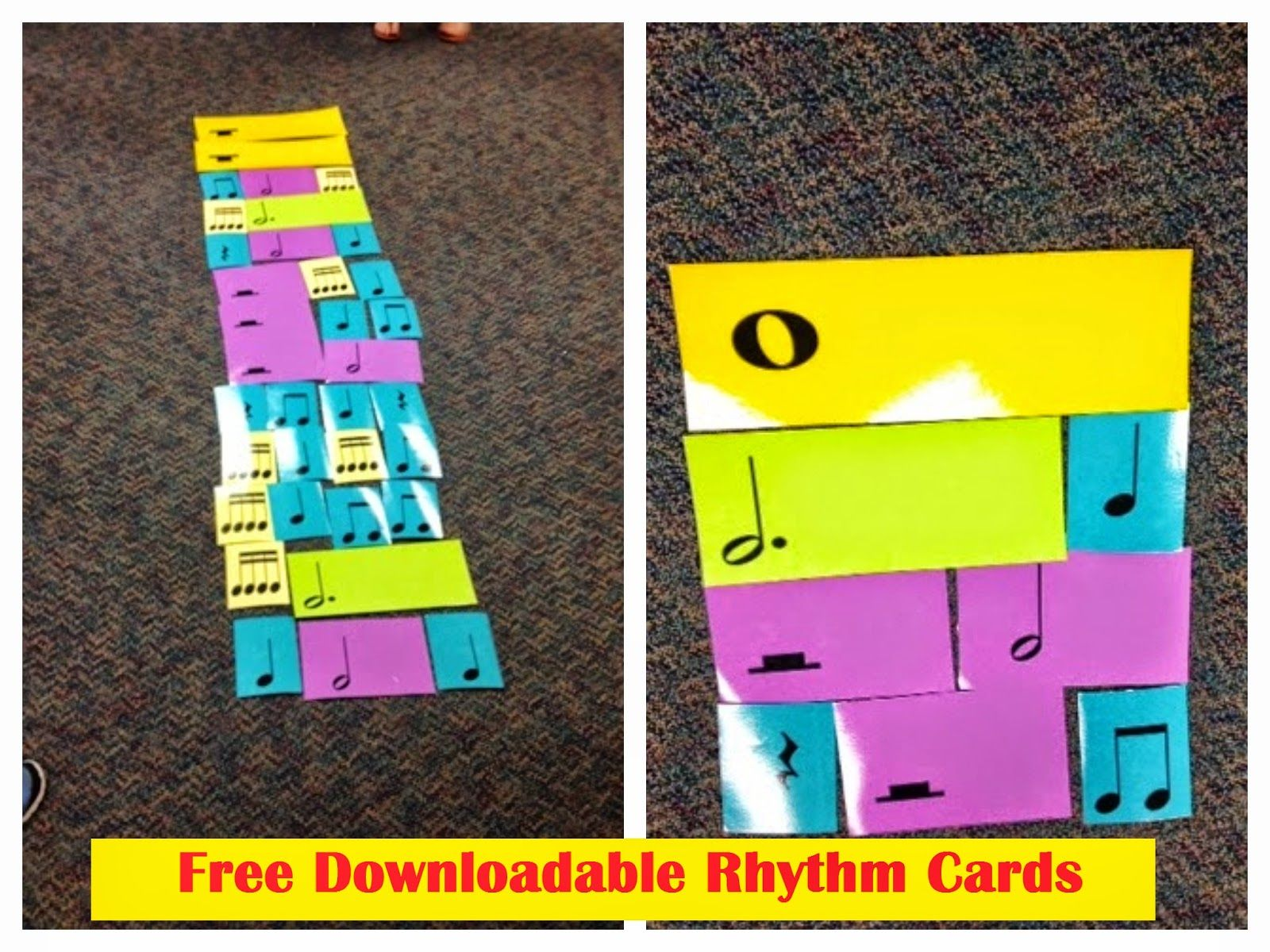 Melodysoup Blog Free Downloadable Rhythm Cards Music Classroom