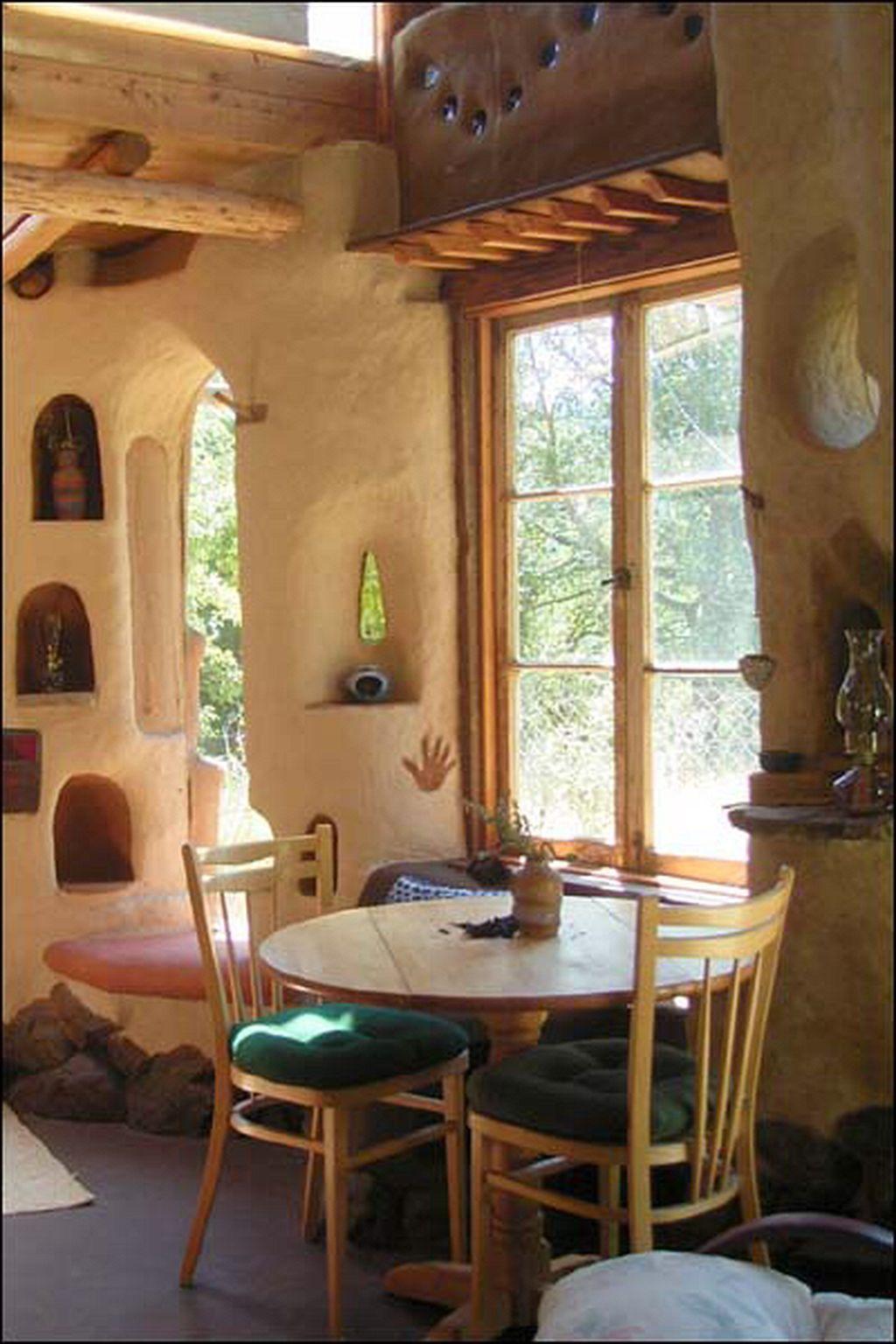 20+ Stunning Cob House Interior Design Ideas #houseinterior