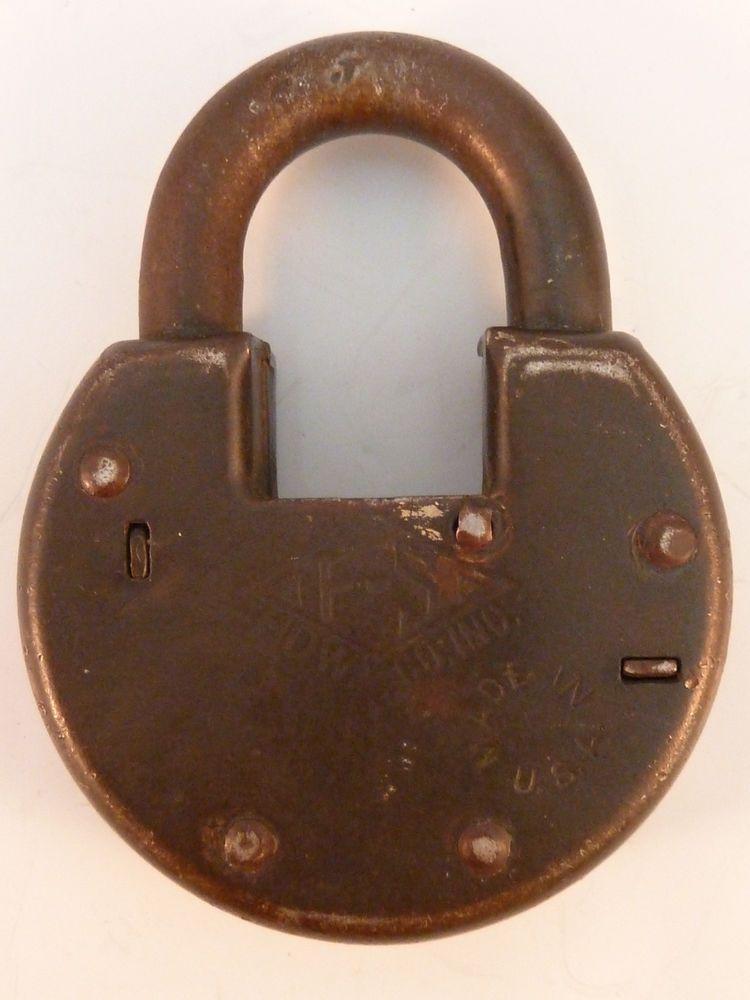 Lock Lock Usa fraim slaymaker lock f s padlock no 8 vintage no key made in usa