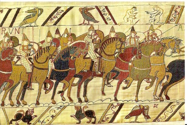 History In Bayeux France Medieval Tapestry Bayeaux Tapestry Romanesque Art