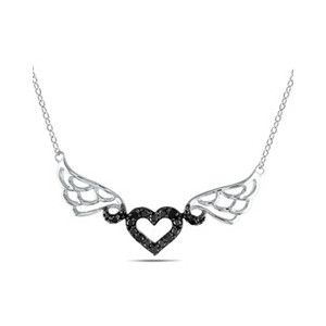 a3a63e7f5f3003 incorporated picture of rose heart diamond wings crown - Google Search  Black And White Pendants,