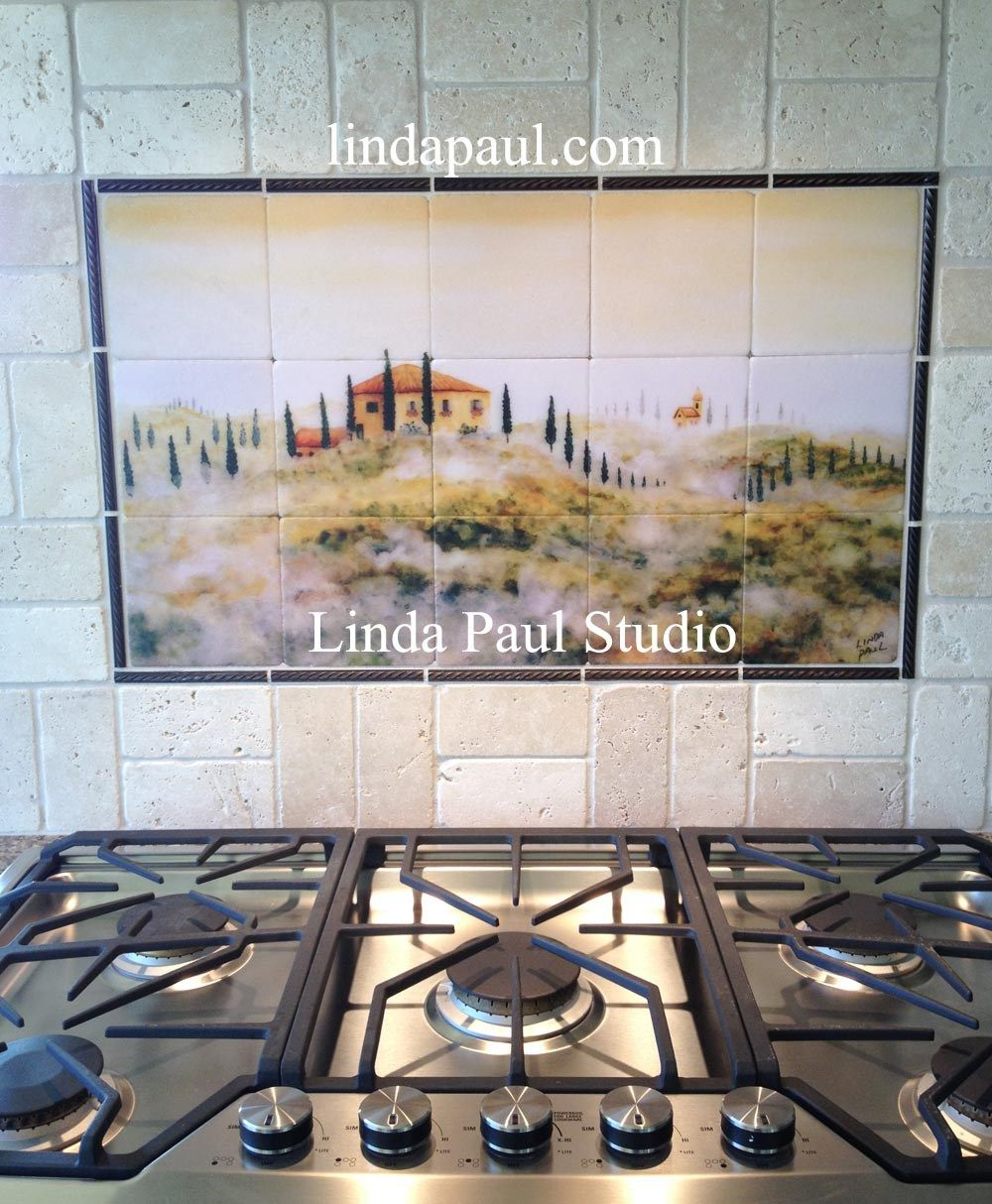 Tuscan tile murals kitchen backsplashes tuscany art tiles italian
