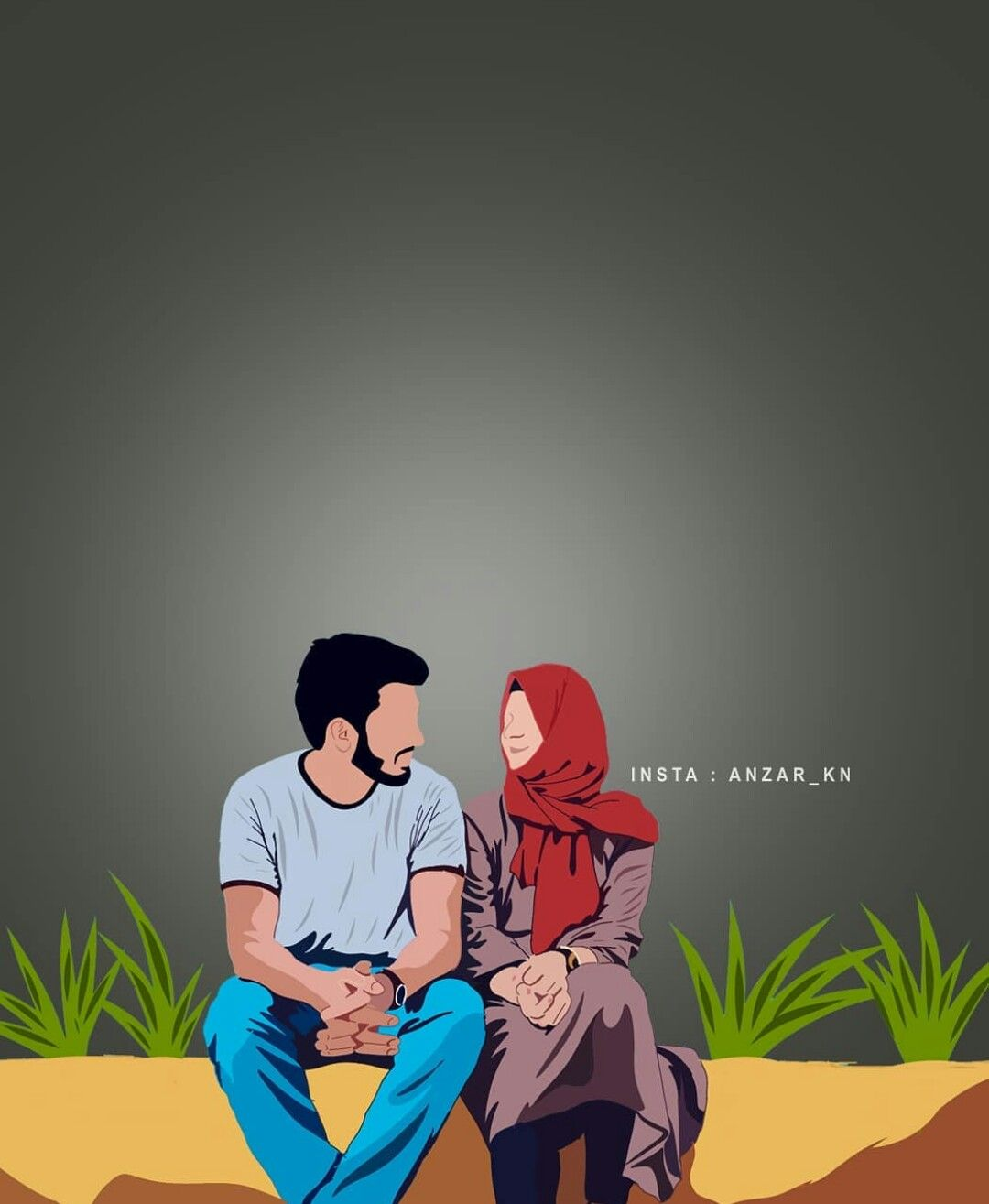 Pin By Dream Girl On Muslim Couple Art Cute Cartoon Wallpapers Cartoon Wallpaper Cute Love Cartoons
