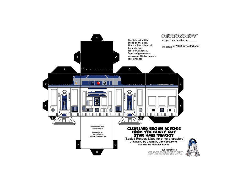 Cubee FAMILY GUY STAR WARS Cleveland as R2-D2 V2 by njr75003 on DeviantArt