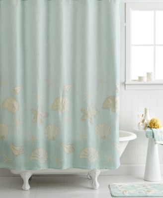 Avanti Bath Sequin Shells 72 X 72 Shower Curtain Bathroom