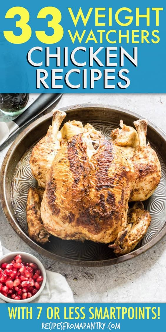 This amazing collection of 33 Weight Watchers Chicken Recipe all contain 7 or less WW Freestyle SmartPoints, and many are even ZeroPoints! From whole chicken and chicken breasts to curry and tacos, each one is packed with flavour and quick and easy to make. Click through to get these awesome recipes!!