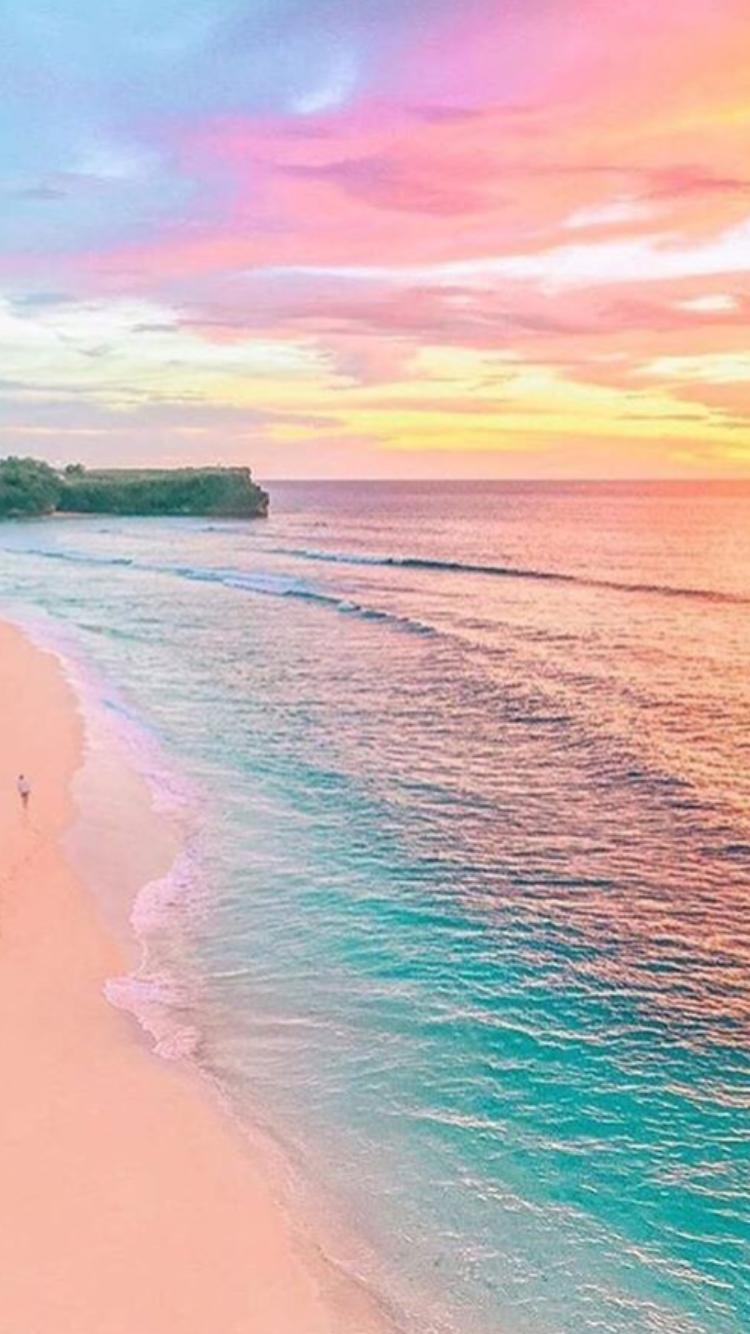 Wallpaper vertical pastel colors beach sand sea wallpapers naturaleza fondos de - Playa wallpaper ...
