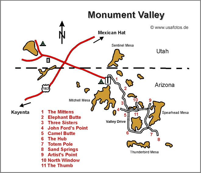 Map Of Arizona Monument Valley.Monument Valley Karte Monument Valley Map Utah In 2019