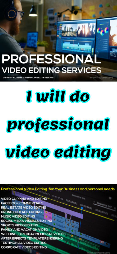 I Will Do Professional Video Editing In 2020 Youtube Editing Video Editing Video Editing Apps