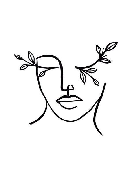 Photo of Minimalist Line Drawing Pictures Home Decor Nordic Canvas Painting Wall Art Figure Flower Print for Living Room Decor Picture – 40x60cm  No frame / E