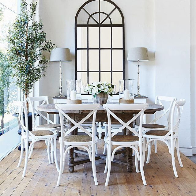 White X Back Chairs Dining Room Via French Dressing In 2020 Farmhouse Dining Room Table Cross Back Dining Chairs Dining Room French