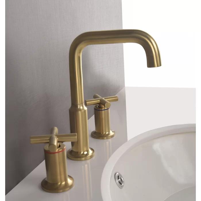 Widespread Bathroom Faucet In 2020 Widespread Bathroom Faucet Bathroom Faucets Brass Bathroom Faucets