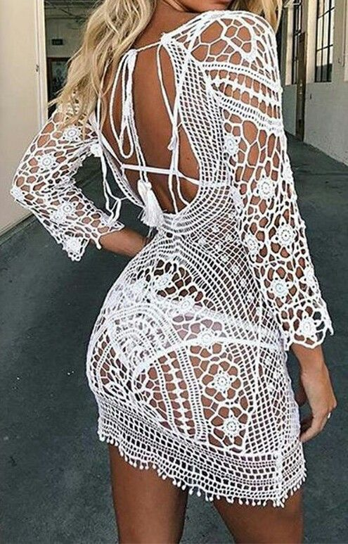 Exotic Crochet Beach Kimono Cover Up - Free 2-3 Day Shipping ...