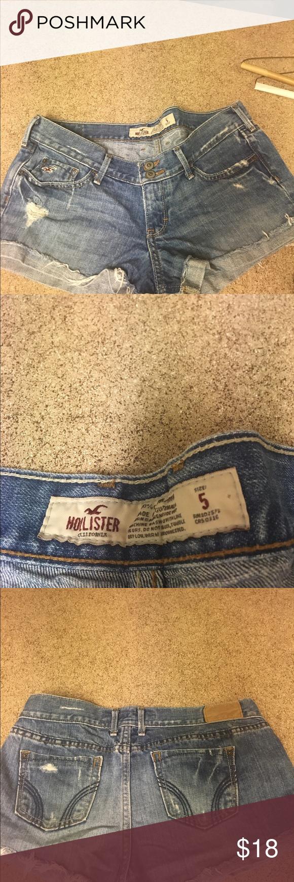 *SALE* Hollister blue jean shorts size 5 Hollister blue jean shorts size 5 Hollister Shorts Jean Shorts