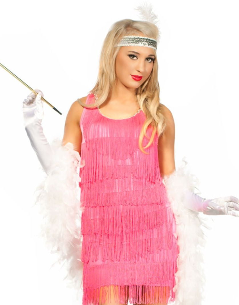 Gatsby Party - sexy pink flapper costume - http://www.heavencostumes ...