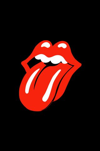 The Rolling Stones Classic Tongue Body schwarz