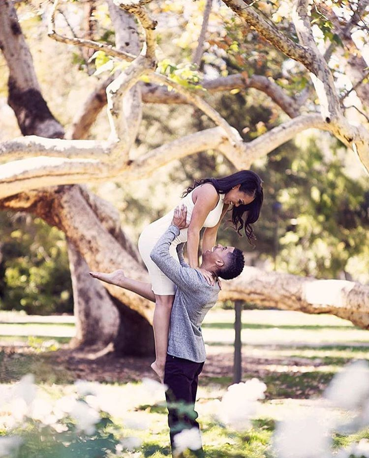 Get carried away during your engagement shoot!