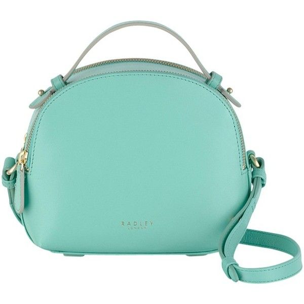 Radley Bow Street Medium Leather Multiway Bag , Turquoise ($130) ❤ liked on  Polyvore