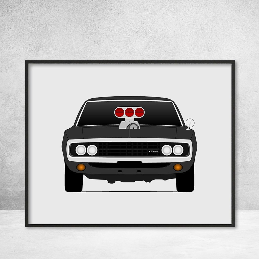 Dodge Charger From The Fast And The Furious Dominic Toretto Vin Diesel Fast And Furious Art Poster Print Wall Art Decor Bx1 Dodge Charger Fast And Furious Sports Cars [ 1049 x 1049 Pixel ]