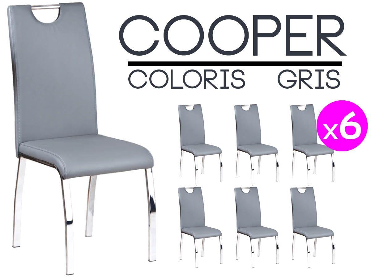 Cooper Lot 6 Chaises Grises   Chaise grise, Chaise de